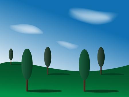 poplars: landscape