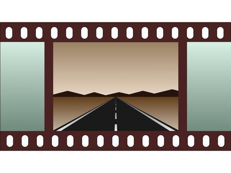 move ahead: empty road - film strip