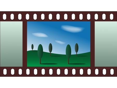 landscape - film strip Stock Vector - 11468801
