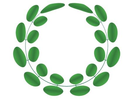 locust: Acacia wreath