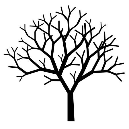 un arbre: silhouette des arbres Illustration
