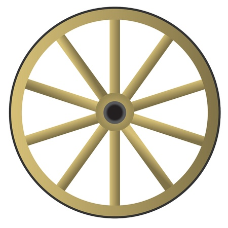 Oude houten wiel Vector Illustratie
