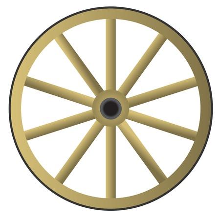 carriage: Vecchia ruota di legno