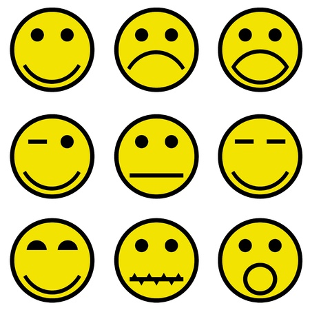 smilies and faces Vector