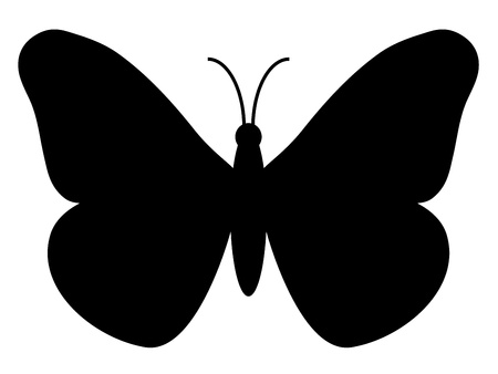 butterfly silhouette Stock Vector - 11467962