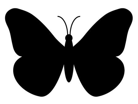 siluetas: butterfly silhouette