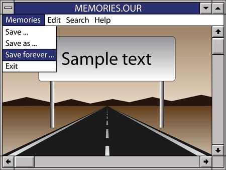 computer memory: our memories save forever