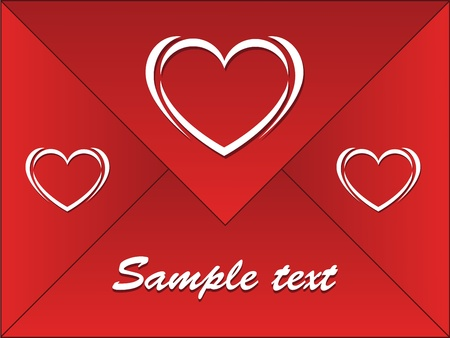 sentiment: red envelope with hearts