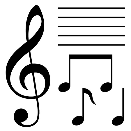 keys isolated: conjunto de s�mbolos musicales