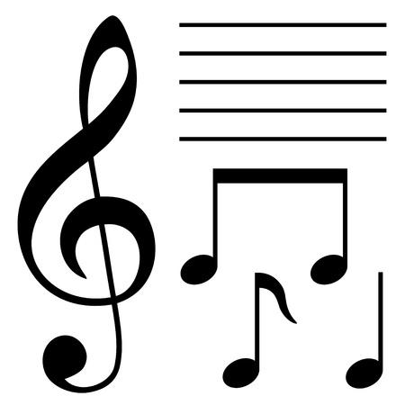 chiave di violino: set di simboli musicali
