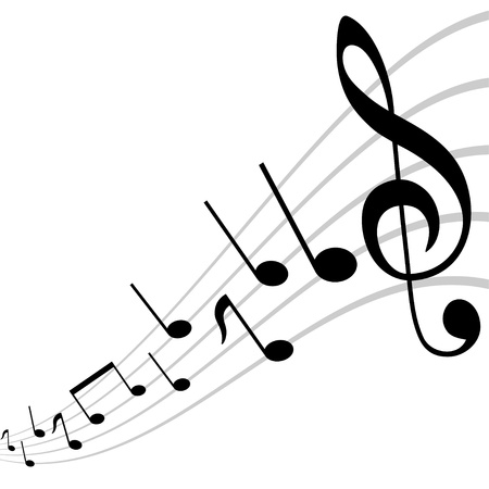 mirored musical theme Vector