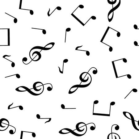 chiave di violino: musicale seamless wallpaper Vettoriali