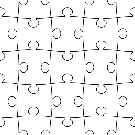 transparent seamless puzzle Vector