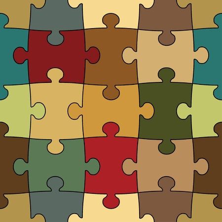 problem solving: seamless puzzle - easy change color Illustration