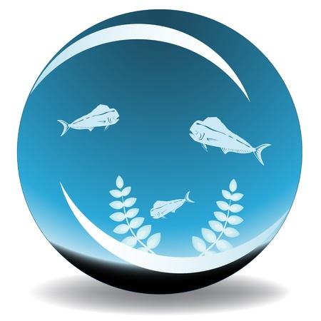 fishbowl vector Vector