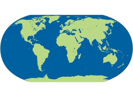 vectorial detallado mapa del mundo Ilustración de vector