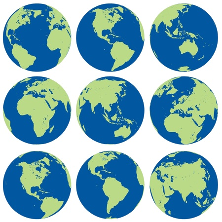vector globes Vector