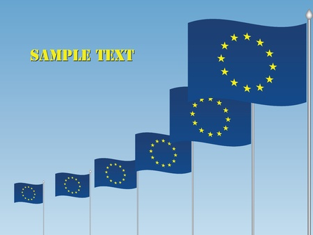 vector EU flags Vector