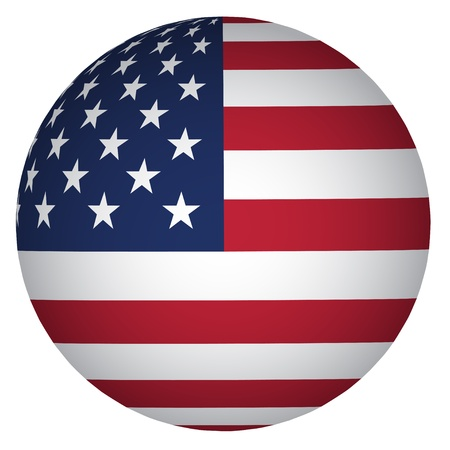 red sphere: sphere USA flag