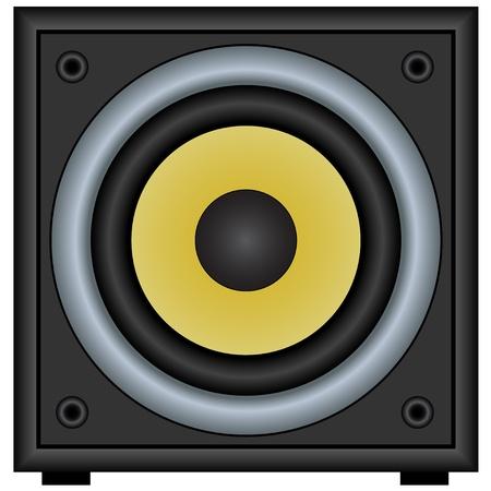 woofer: vector audio speaker Illustration
