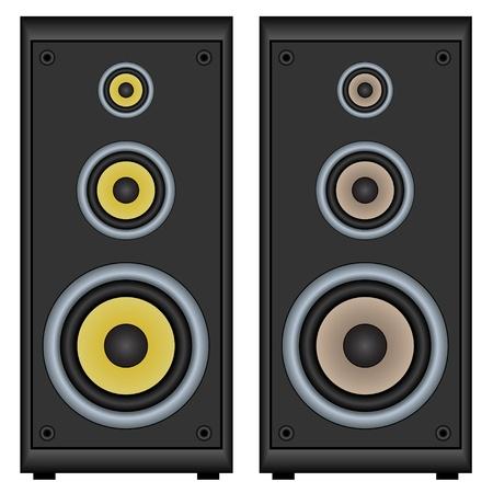 vector audio speakers Stock Vector - 11486156