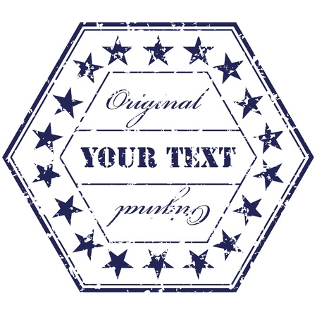 authentic: Vector grunge stamp Illustration
