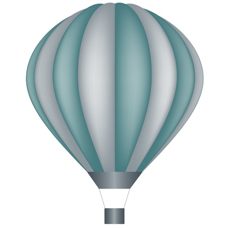 levitation: vector air balloon Illustration