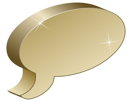 metallic chat box Vector