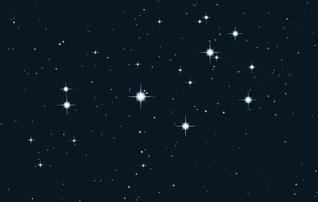 the pleiades: vector star galaxy - pleiades
