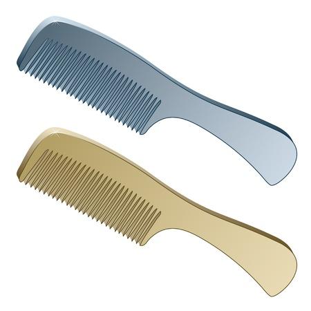 golden hair: 3d metallic combs