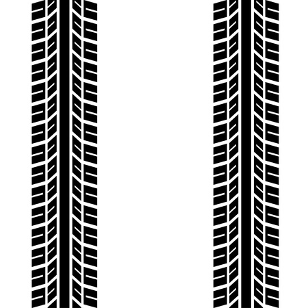 car tracks: seamless trace of the tyres Illustration