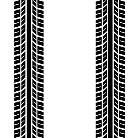 motricit�: trace transparente des pneus Illustration