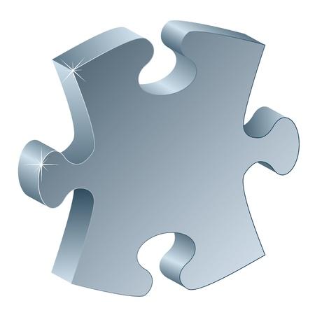 resoudre probleme: 3d pi�ce de puzzle m�tallique