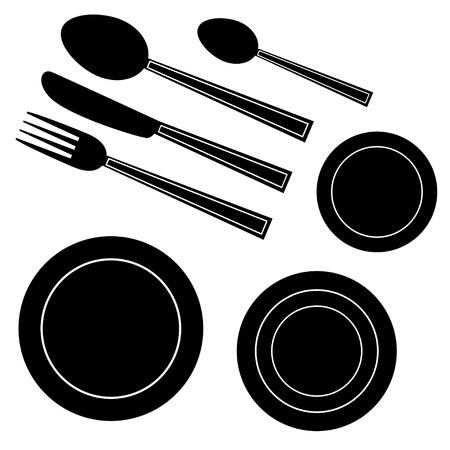 dining set: vector setting