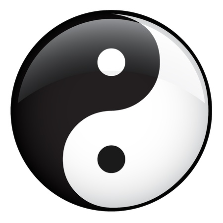 karma design: Vector Ying Yang Illustration