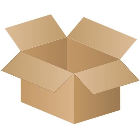 brown box: scatola di spedizione - vettore Vettoriali