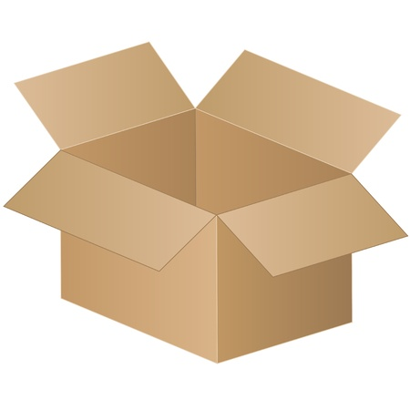 packing boxes: shipping box - vector Illustration