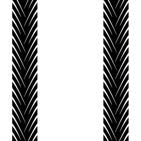 seamless trace of the tyres Stock Vector - 11486249