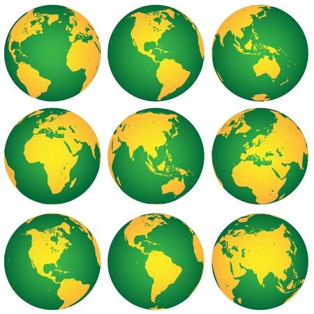 vector globes Stock Vector - 11487364