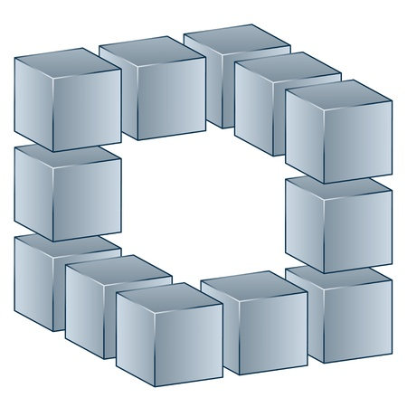 vector 3d cube Vector
