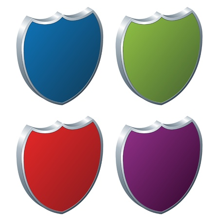 vector shields - 3d badges Vector