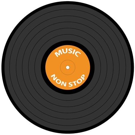 vinyl records: vector vinyl record Illustration