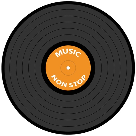 record player: vector vinyl record Illustration