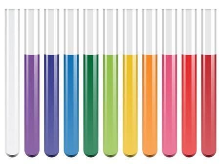 sustancias toxicas: tubos de ensayo de vectores