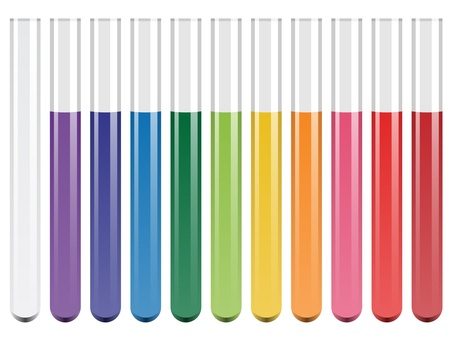 a solution tube: vector test tubes Illustration