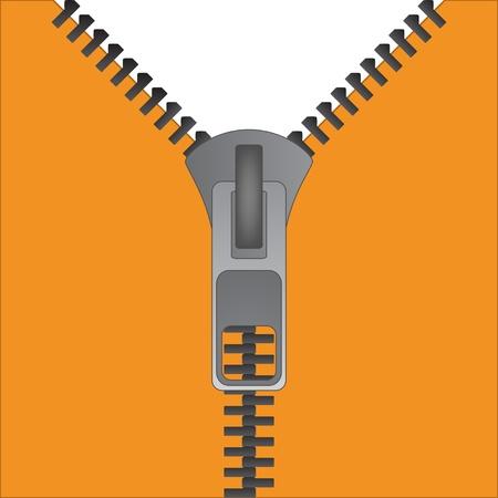 metal fastener: vector zipper