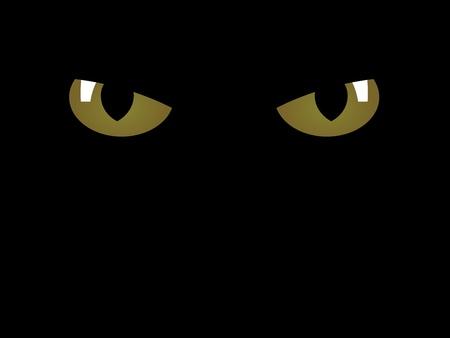 angry look: vector feline eyes