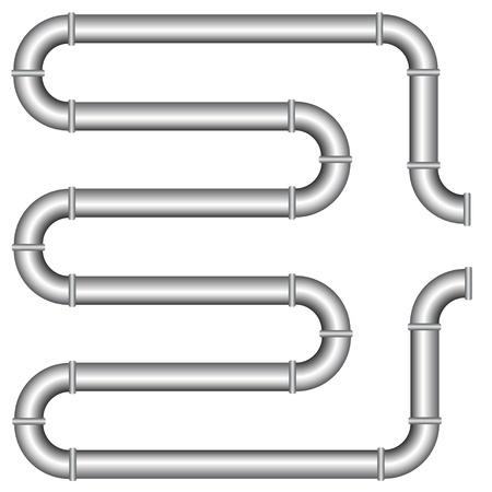 caños de agua: vector de tubería
