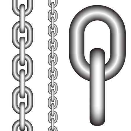 chainlinked: vector naadloze keten Stock Illustratie