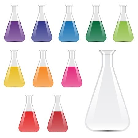 beaker: vector de laboratorio frascos
